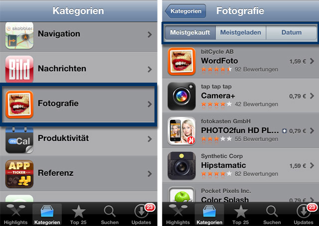 beliebteste foto apps appst Neue Foto Apps finden: vier praktische Tipps