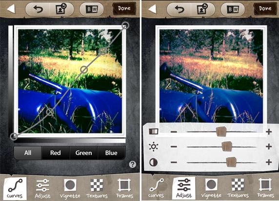 Großer Vorteil dieser App: Retro- und Vintage-Effekte mit jeder Menge Einstellungsmöglichkeiten