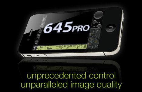 Mehr Kontrolle und Einstellungsmöglichkeiten: die 645 PRo iPhone App